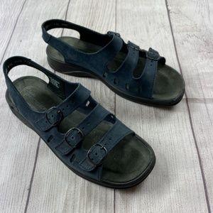 Clarks Springers navy blue sandals 8.5